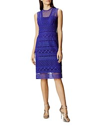 Karen Millen Lace Sheath Dress Blue