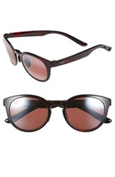 Women's Maui Jim 'Keanae' 49Mm Sunglasses Red Black Tortoise Rose