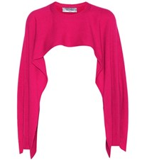 Valentino Cropped Cashmere Sweater Pink