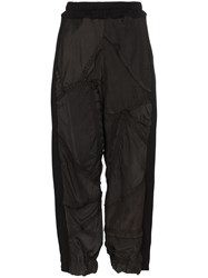 By Walid Sergio Cropped Trousers Black