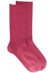 Brunello Cucinelli Raw Edge Socks Pink