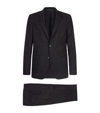 Zegna Wool Wash And Go Two Piece Suit Black