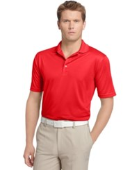 Izod Performance Solid Grid Golf Polo Polish Red