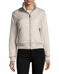 Marc New York Oakley Pyramid Quilted Bomber Jacket Gray