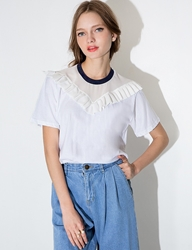 Pixie Market Organza Pleated Tee