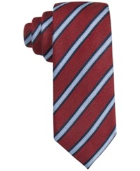 Tasso Elba Men's Knit Striped Classic Tie Only At Macy's Red
