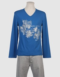 Exte Topwear Long Sleeve T Shirts Men Slate Blue