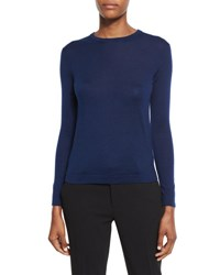 Ralph Lauren Long Sleeve Crewneck Cashmere Sweater Prussian Blue