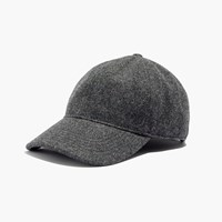 Madewell Wool Blend Baseball Hat Hthr Blackbird