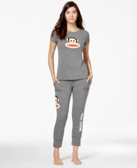 Paul Frank Short Sleeve Pajama Set Heather Grey