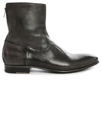 Pete Sorensen Mac Gill Grey Patent Leather High Top Boots