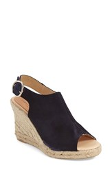 Women's Patricia Green 'Belle' Espadrille Wedge Sandal Navy