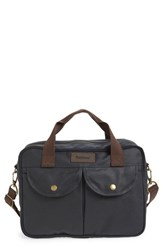Men's Barbour 'Longthorpe' Waxed Canvas Laptop Bag Blue Navy