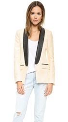 Laveer The Tux Blazer Ivory Black