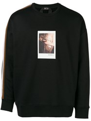 N 21 No21 Polaroid Sweatshirt Black