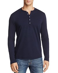 Velvet Alvaro Long Sleeve Henley Midnight Blue