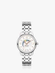 Montblanc 119934 Unisex Boheme Day And Night Automatic Date Bracelet Strap Watch Silver White