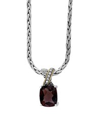 Effy 925 Sterling Silver 18K Yellow Gold Cognac Diamond And Smoky Quartz Necklace Brown