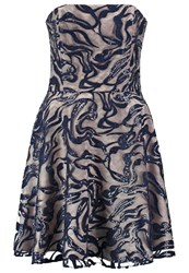Swing Cocktail Dress Party Dress Ink Gold Dark Blue
