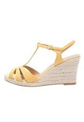Pier One Wedge Sandals Yellow