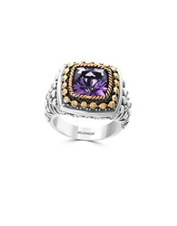 Effy Amethyst 18K Yellow Gold And Sterling Silver Ring Purple