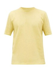 Folk Crew Neck Cold Dyed Cotton T Shirt Gold