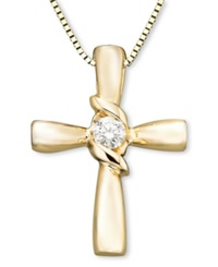 Sirena 14K Gold Diamond Cross Pendant 1 10 Ct. T.W.