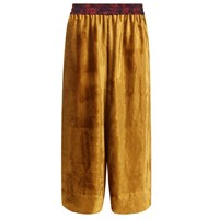Klements Pluto Culottes In Gold Velvet