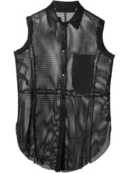 Drome Perforated Sleeveless Shirt Black