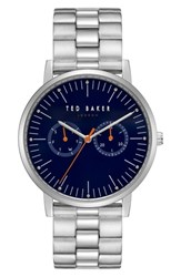 Ted Baker London Brit Multifunction Bracelet Watch 40Mm Dark Blue Stainless Steel