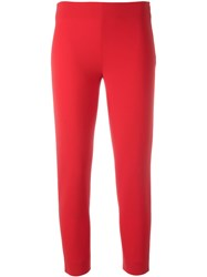 Moschino Cropped Trousers Red