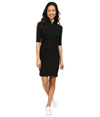 Lacoste Half Sleeve Stretch Pique Polo Dress Black Women's Dress