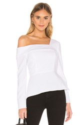 Bcbgmaxazria Asymmetric Top White