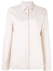 3.1 Phillip Lim Concealed Placket Shirt Pink And Purple