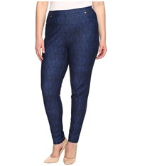 Michael Michael Kors Plus Size Denim Pull On Leggings In Blue Indigo Blue Indigo Women's Jeans