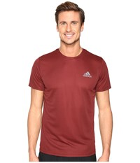 Adidas Essential Tech Crew Tee Maroon Mystery Red S17 Men's T Shirt