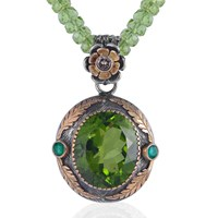 Emma Chapman Jewels Orisha Peridot And Diamond Pendant Green