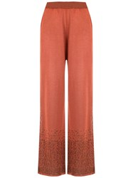 Mara Mac Knitted Palazzo Pants Orange
