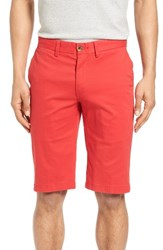Ben Sherman Men's Slim Stretch Chino Shorts Washed Red