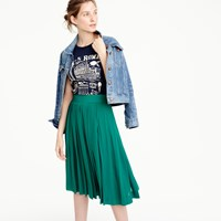 J.Crew Double Pleated Midi Skirt