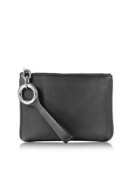 Alexander Wang Riot Black Refined Pebble Leather Pouch