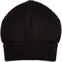 Maison Martin Margiela Maison Margiela Men's English Rib Knit Beanie Black