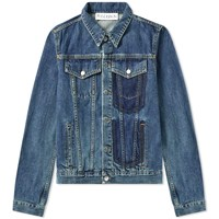 J.W.Anderson Jw Anderson Shaded Pocket Detail Denim Jacket Blue