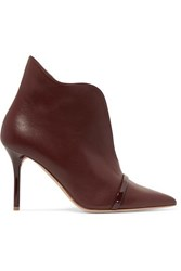 Malone Souliers Cora 85 Leather Ankle Boots Burgundy