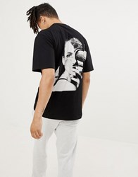 Systvm Fossil Back Print T Shirt Black