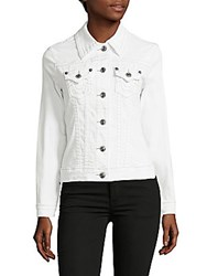 True Religion Button Down Stretch Jacket Optic White