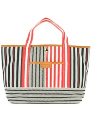 Sonia Rykiel Striped Tote Red