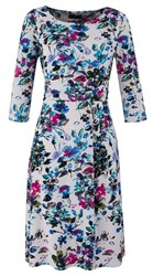 Grace Made In Britain Floral Midi Dress White
