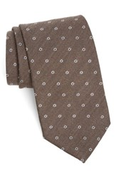 Strong Suit Men's Heather Floral Silk And Wool Tie Merlot