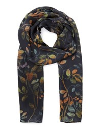 Eastex Osbourne Leaves Scarf Multi Coloured